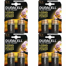 8 x Duracell Plus Power Type C Alkaline Batteries Pack - LR14 MN1400 MX1400 BABY