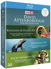 David Attenborough 3D Collection Blu Ray 4 Disc Set Galapagos Micro Monsters