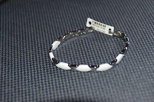 Damen Armband Keramik Edelstahl - weiß