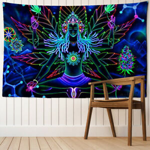 Seven Chakra Meditation Wall Hanging Mandala Psychedelic Bohemian Tapestry Decor