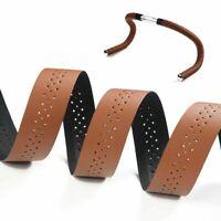 Bicycle Handlebar Tape Road Bike PU Leather Perforated Belt Breathable Soft