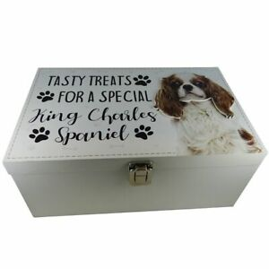 King Charles Dog Treats Food Storage Container Holder Biscuits Puppy Toy Storage