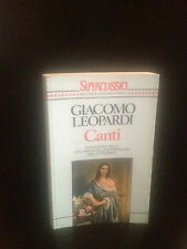"""GIACOMO LEOPARDI - CANTI  """""""
