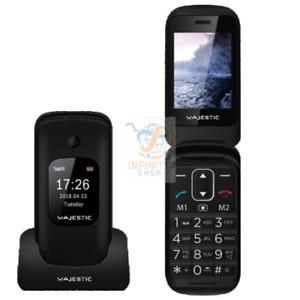 MAJESTIC TELEFONO PER ANZIANI TLF SILENO 50R SENIOR PHONE CON DOPPIO DISPLAY TFT