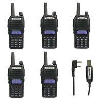 ES! 5*Baofeng UV-82L VHF/UHF Emisora Walkie Talkie 2000mAh Bibanda Radio + Cabel