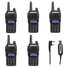 ES! 5*Baofeng UV-82L VHF/UHF Emisora Walkie Talkie 3000mAh Bibanda Radio + Cabel