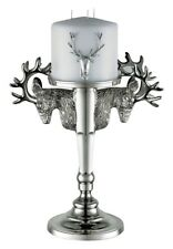 Kenneth Turner Medium Stag Silver Candle Stick