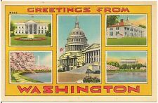 Greetings From Washington DC Large Letter Multiview Postcard