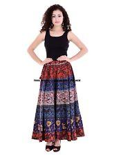 Indian Long Wrap Around Maroon Floral Mandala Printed Skirt Cotton Sarong Skirt
