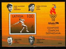 Latvia 1996 Sc422 MiB9 1 SS mnh Summer Olympic Games, Atlanta'96.