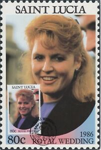 St. Lucia - 1986 80c Royal Wedding Maximum Card - First Day of Issue - Fergie
