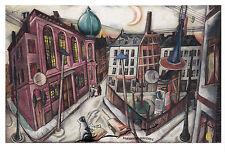 Kunstpostkarte - Max Beckmann: Die Synagoge in Frankfurt am Main