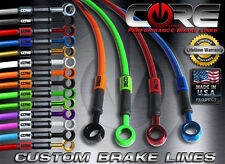 CORE MOTO Kawasaki Ninja 250 2008-2012 Brake Line set front rear SS braided kit