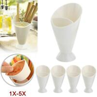 5/3/2 Set Cone Fries Dip Fry Sauce Snack Holder Food Party Bowl Serving Stand BG