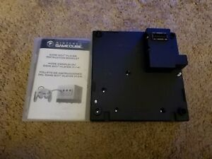 Nintendo Gamecube Gameboy Player and Start-Up Disc GBA Black Tested!