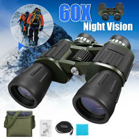 60 x 50 Zoom Day Night Vision Outdoor Travel Binoculars Hunting Telescope + Bag