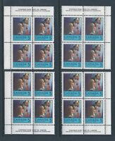 Canada #502 Christmas Matched Set Plate Block MNH *Free Shipping*