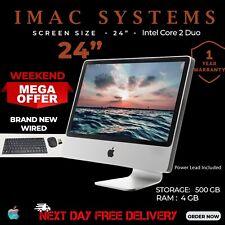 "APPLE IMAC A1225 24"" INTEL CORE 2 DUO 4GB RAM-500GB HDD WEBCAM DVD NEXT DAY POST"