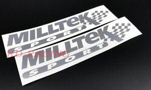 Milltek Sport Stickers Decals Exhaust System Catback Muffler  x 2 pcs.
