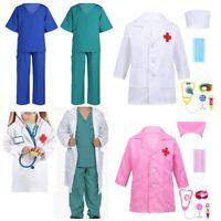Medical Doctor Nursing Girls Boys Surgeon Set Hospital Uniform Cosplay Costume