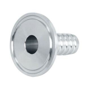 1.5'' Tri Clamp to 1/2'' Hose Barb Adapter Stainless Steel Connector Ferrule