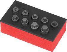 Welzh Werkzeug 9pc Hex Allen Bit Socket Set LOW PROFILE, SHORT, STUBBY, H4-H12