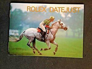 ORIGINAL  ROLEX DATEJUST  INSTRUCTION BOOK . 1994 ENGLISH