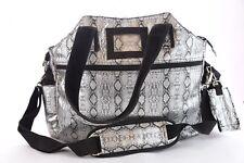 Jetpac Tennis Tote Bag Designed Lynn Tauchen Reptile Silver Black Life is Tennis