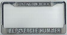 Huntington Beach California Jeep Eagle Hummer Vintage Dealer License Plate Frame