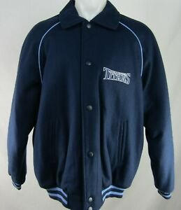 Tennessee Titans NFL Men's Wool Snap up Bomber Jacket Mid-Weight