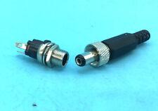 30 set M8 5.5mm x 2.5mm DC Plug & Power Socket Lockable Copper Panel Connector