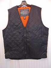 GREG NORMAN Collection Loose Fit Golf Vest Large Black Full Zip Quilted Shark