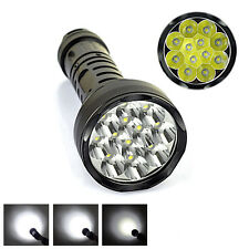 15000LM Super Bright LED Camping Flashlight T6 Tactical Flashlight Torch 12 CREE