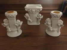 Porcelain Unity Candle Holder Set Wedding