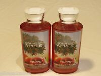 Bath and Body Works RARE Country apple shower gel wash 2- 10 oz 20 oz total NEW