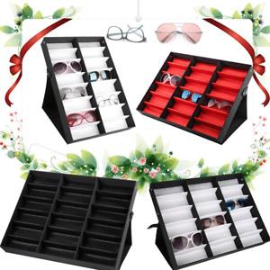 16/18 Grids Eye Glasses Case Eyewear Sunglasses Display Storage Box Organizer