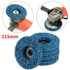 "5X 115mm 4.5"" Poly Strip Wheel Discs Paint Rust Remove Abrasive Angle Grinder UK"