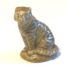 WADE WHIMSY FIGURINE VINTAGE ENGLAND MINIATURE STATUE ANIMAL TIGER CAT PORCELAIN