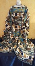 Native American Southwestern Tribal Unisex Poncho Maxi Coat Dress Party Bridal