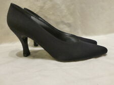 Stuart Weitzman Black Canvas Classic Pumps Heels #4W 45126 Womens Shoes 8.5AA