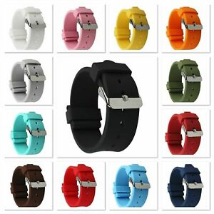 Ersatz Silikon Uhrenarmband Divers Strap Armband 13 Farben in 18 - 24mm