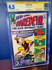 SIGNED First Appearance DAREDEVIL #1 STAN LEE 1964 Series CGC 4.5 ss 1st Murdock