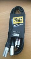 YELLOW CABLE K09-3 Double RCA M vers 2 XLR M 3 m