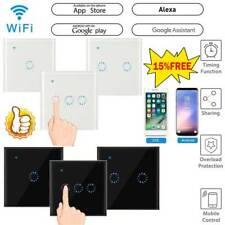 No requiere cable Neutral Interruptor de Luz Inteligente Wi-fi Táctil/voz/APP control Caliente