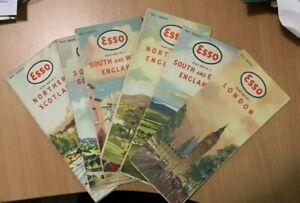 6 Esso Road maps England Scotland London C 1950's?