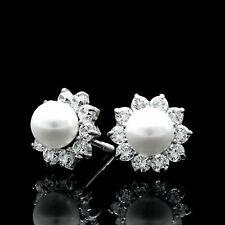dbd329a4ccf09 Freshwater Stud White Gold 14k Fine Pearl Earrings for sale | eBay
