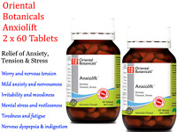 2 x 60 tabs ORIENTAL BOTANICALS Anxiolift 120 Tablets ( Anxiety Tension Stress )