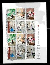 CHINA 2011-5 FAMOUS SCHOLAR STORY IDIOMS MINI SHEET VF MNH