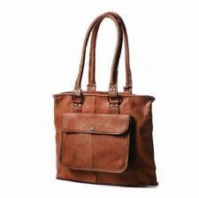 Handmade Rustic Brown Genuine Leather Shoulder Tote Handbag Satchel Bag Purse