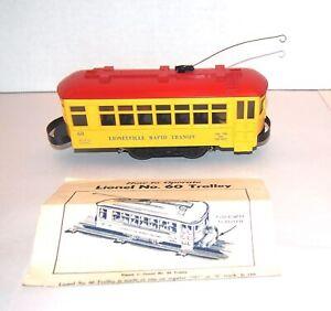 Lionel Postwar Original 60 Lionelville Trolley! PA